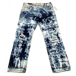 Rock Revival Lowry Straight Jeans Mens 34 $200